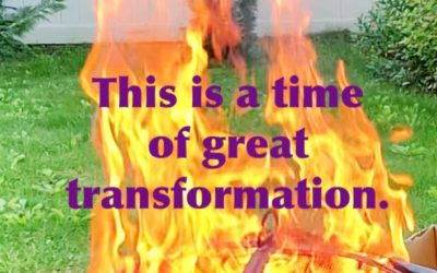 This is a time of transformation.